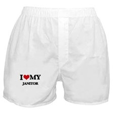 I love my Janitor Boxer Shorts
