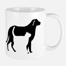 Cat And Dog Silhouette Mugs