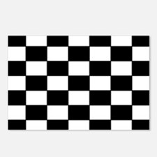 Checkered Pattern Postcards (Package of 8)