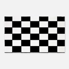 Checkered Pattern 3'x5' Area Rug