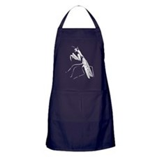 Preying Mantis Silhouette Apron (dark)