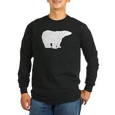 Polar Bear Silhouette Long Sleeve T-Shirt
