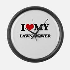 I love my Lawn Mower Large Wall Clock