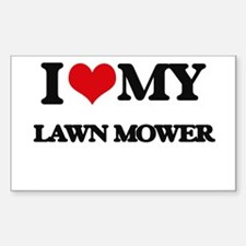I love my Lawn Mower Decal