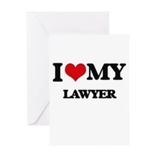 I love my Lawyer Greeting Cards