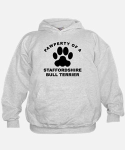 Pawperty Of A Staffordshire Bull Terrier Hoodie