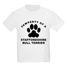Pawperty Of A Staffordshire Bull Terrier T-Shirt