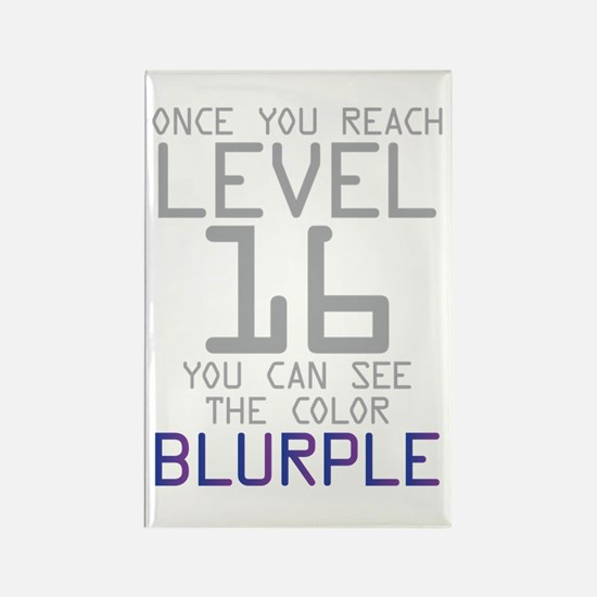 The Color Blurple Rectangle Magnet