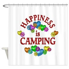 Happiness is Camping Shower Curtain