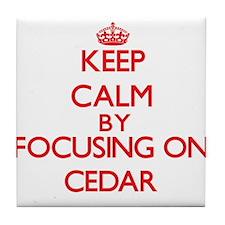 Cedar Tile Coaster