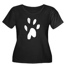 Paw Print Silhouette Plus Size T-Shirt
