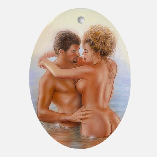 Lovers Oval Ornament