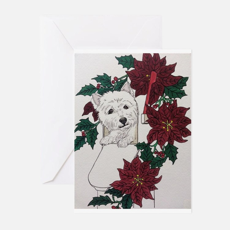 Westie Holiday Delivery Greeting Cards (Pk of 10)