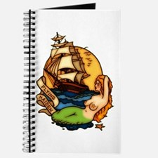 Mermaid n Pirate Ship Tattoo Art Journal