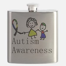 Autism Awareness Friends Flask