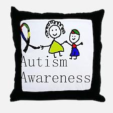 Autism Awareness Friends Throw Pillow