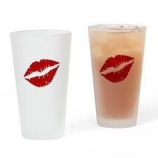 Big Red Lips Drinking Glass