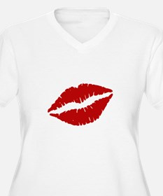 Big Red Lips Plus Size T-Shirt