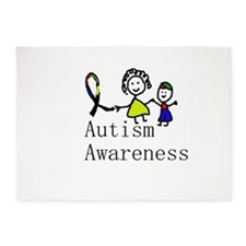 Autism Awareness Friends 5'x7'Area Rug