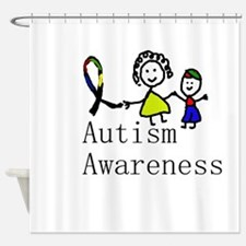 Autism Awareness Friends Shower Curtain