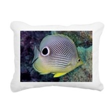 Four-eyed Butterfly Fish Rectangular Canvas Pillow