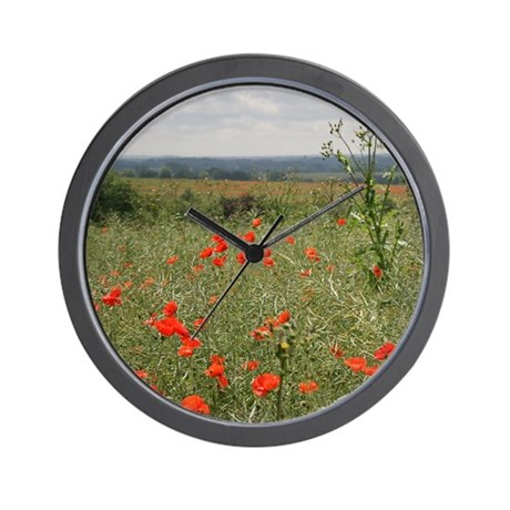 Poppies Beyond Poppies Wall Clock