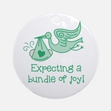 Expecting a Bundle of Joy Ornament (Round)