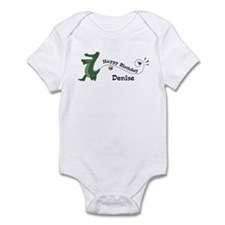 Happy Birthday Denise (gator) Infant Bodysuit