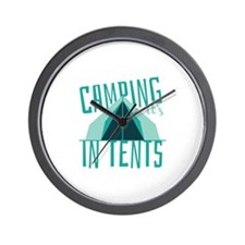 Intense In Tents Wall Clock
