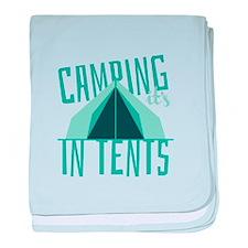 Intense In Tents baby blanket