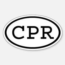 CPR Oval Oval Decal