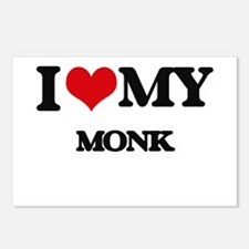 I love my Monk Postcards (Package of 8)