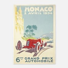Monaco, Grand Prix, Vintage Poster 5'x7'area Rug