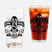 29th Birthday 1959 Drinking Glass