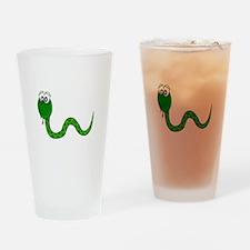 Cartoon Snake Drinking Glass