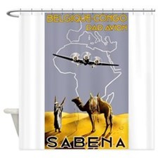Africa Vintage Travel Poster Shower Curtain