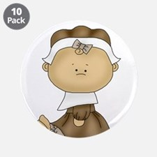 """My First Thanksgiving - Girl 3.5"""" Button (10 pack)"""