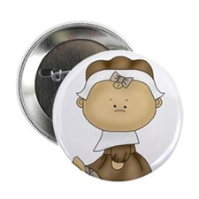 """My First Thanksgiving - Girl 2.25"""" Button (10 pack"""