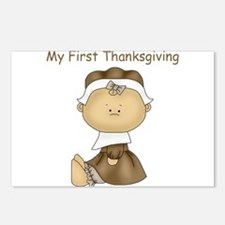 My First Thanksgiving - Girl Postcards (Package of
