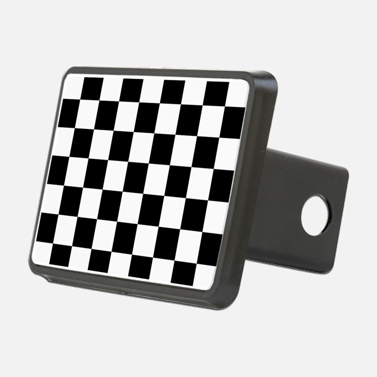 BLACK AND WHITE Checkered Pattern Hitch Cover