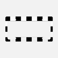 BLACK AND WHITE Checkered Pattern License Plate Ho