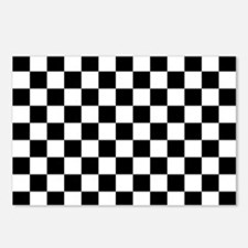 BLACK AND WHITE Checkered Pattern Postcards (Packa