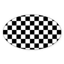 BLACK AND WHITE Checkered Pattern Bumper Stickers