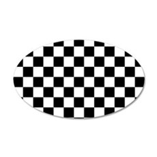 BLACK AND WHITE Checkered Pattern Wall Decal