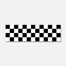 BLACK AND WHITE Checkered Pattern Car Magnet 10 x