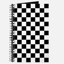 BLACK AND WHITE Checkered Pattern Journal