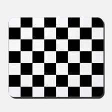 BLACK AND WHITE Checkered Pattern Mousepad