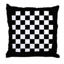 BLACK AND WHITE Checkered Pattern Throw Pillow