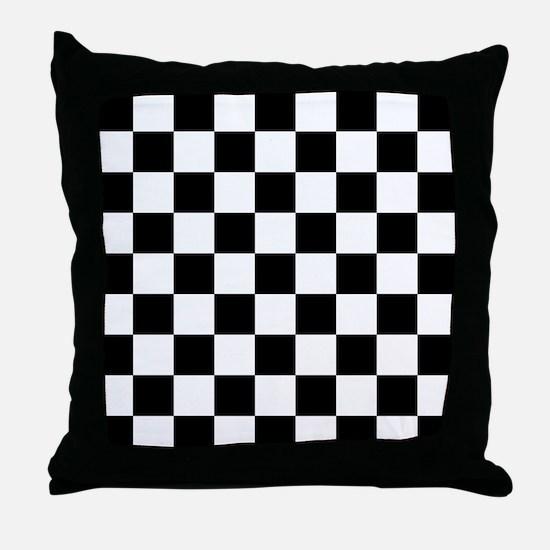 BLACK AND WHITE Checkered Pattern Throw Pillow