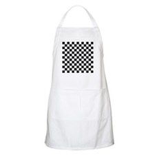 BLACK AND WHITE Checkered Pattern Apron